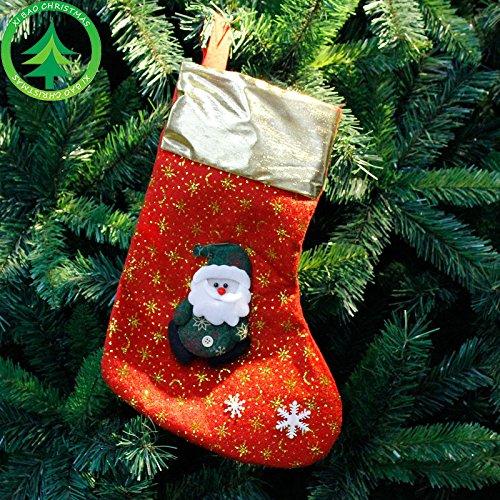 Bluelover Weihnachtsdekorationen 2018 Weihnachtsfeier Stocking Clthes Santa Socken Neujahr Candy Geschenktaschen Für Kinder - 3