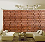999Store brown brick tiles self adhesive vynl wallpaper wall murals for living room (Covers approx 150 Sqft)