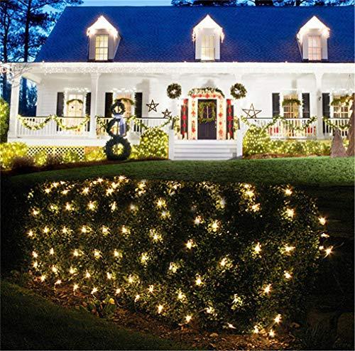 UNIQUE-F Super Bright Fairy Lights Exquis Romantique Cour Cour Porte Fenêtre Escaliers Dream Stable LED Blanc Chaud 2 * 3m