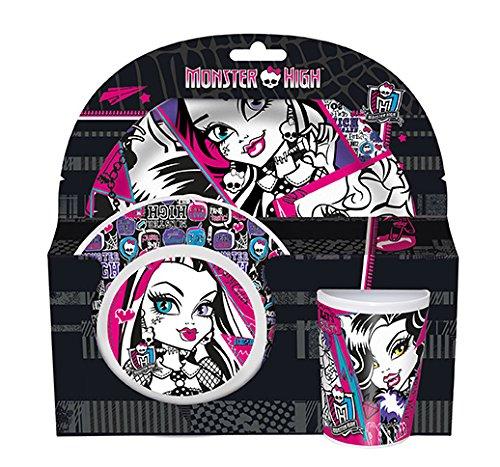 Monster High Frühstücksset. 3tlg. Melamin in Sleeve (High Monster Halloween Puppe)