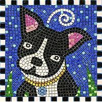 kit de mosaico, 20x20cm, Perro - Boston Terrier