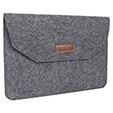 #2: AmazingHind 11-Inch Felt laptop Sleeve case cover for MacBook Air, MacBook Pro, NoteBook, UltraBook (Color- Slate Grey) - Not for Normal Laptop