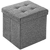 TecTake Faltbarer Sitzhocker Aufbewahrungsbox Sitzwürfel Würfel Hocker Box Möbel 38x38x38cm