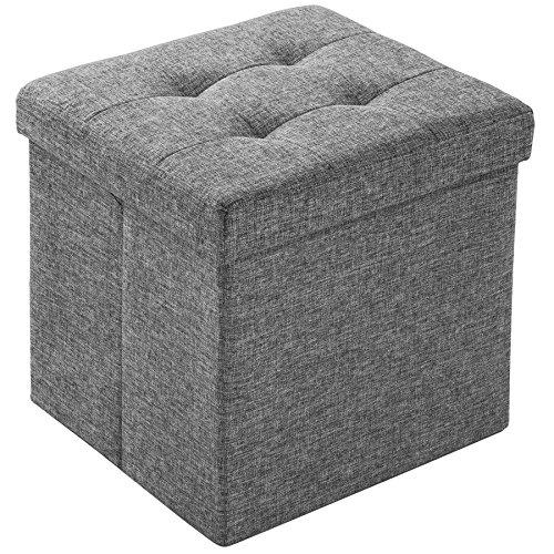 TecTake Tabouret pliant cube pouf dé pliable coffre siège de rangement 38x38x38cm