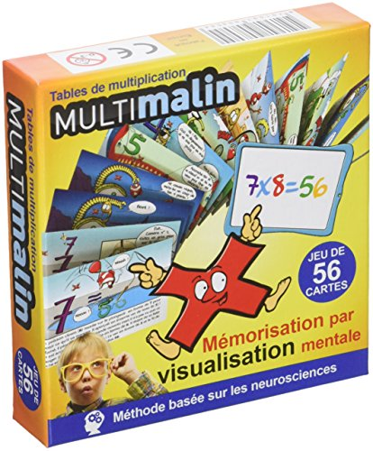 Tables de multiplication : Jeu de 56 cartes, mémorisation par visualisation mentale