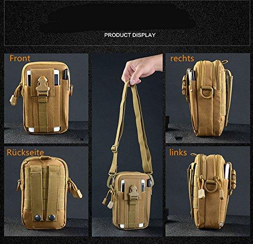 5 All Sling-Rucksack Sling Bag Taschen Taktische Rucksack Wanderrucksack Kleine Rucksäcke Kletterrucksack Outdoor Sports Camouflage Trekkingrucksack als Radfahr Jogging-Rucksack Grün 2