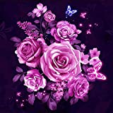 sunnymi 5D Bild, Rose Blume Diamant Verzierung Kreuzstich Dekoration von DIY Haus 30x30cm