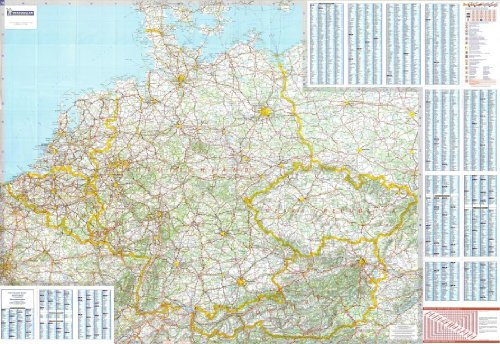 michelin-national-wall-map-of-germany-benelux-austria-czech-rep-a-encapsulated-in-gloss-plastic