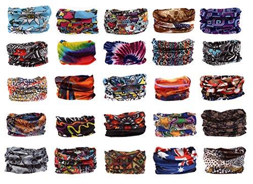 Foulard bandana schlauchtuch multischal foulard multifonction dans un large choix Marron - Design 4