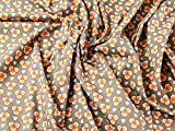 Mango Banjo Retro Print Baumwolle Popeline Kleid Stoff
