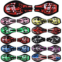 FunTomia® - Waveboard, con ruedas ABEC-11, incluye bolsa de transporte y CD, disponible en diseños de varios colores. (rojo / calavera)
