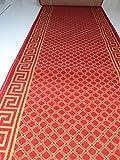 Läufer nach Maß Meterware Rot Karo 1130 lfm. 16,90 Euro Breite 100 x 600 cm