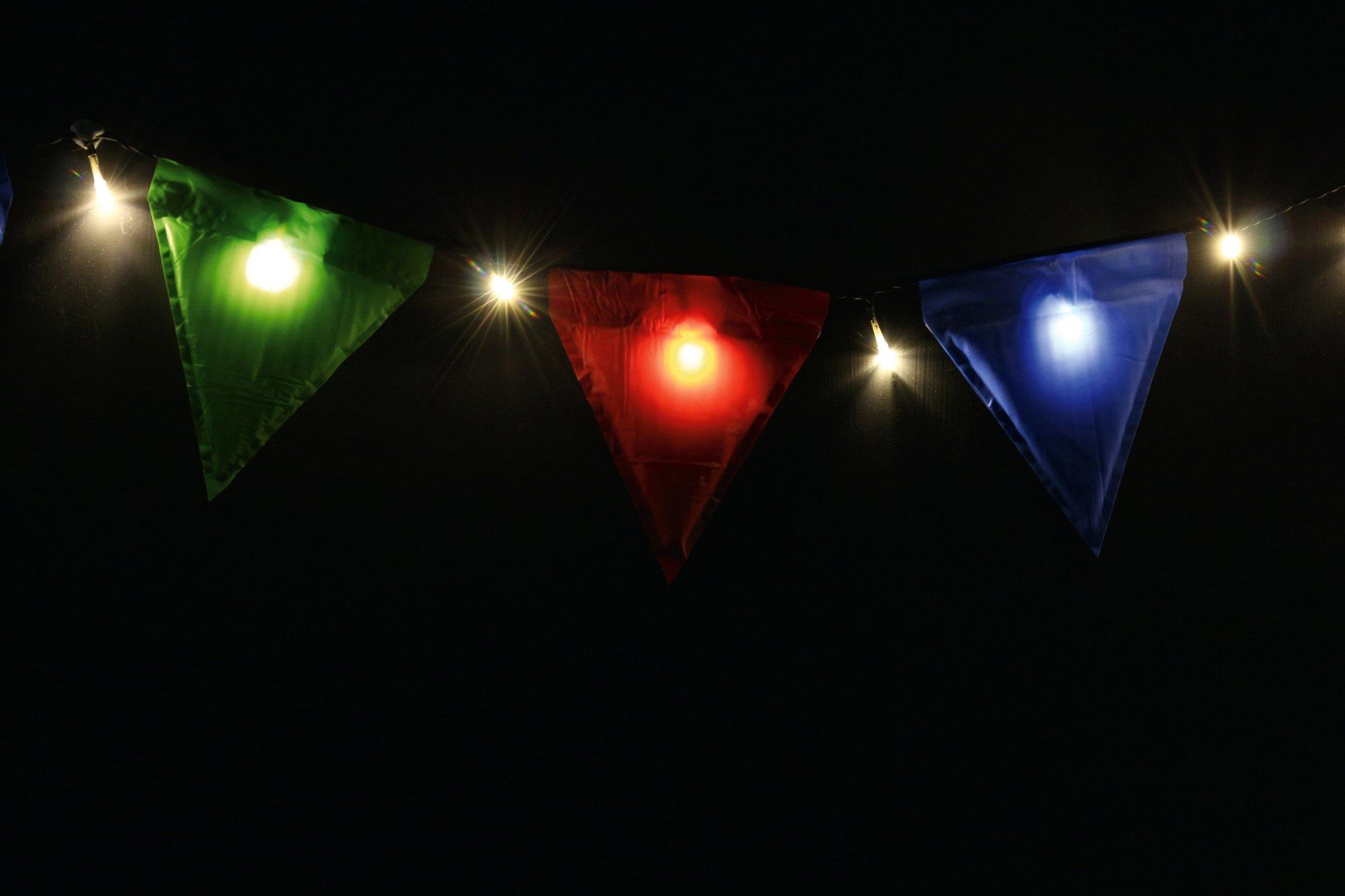 2 X Light-Up Bunting
