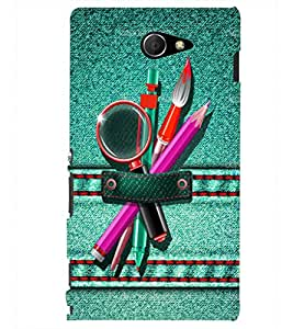 PRINTSHOPPII DESIGN BRUSH Back Case Cover for Sony Xperia M2 Dual D2302::Sony Xperia M2