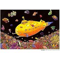 sottomarino giallo (non-flocked Blacklight) Poster stampa artistica