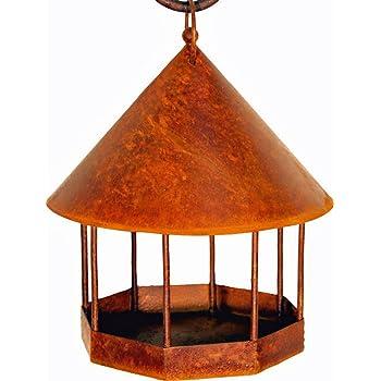 vogelhaus zum h ngen edelrost rost haustier. Black Bedroom Furniture Sets. Home Design Ideas