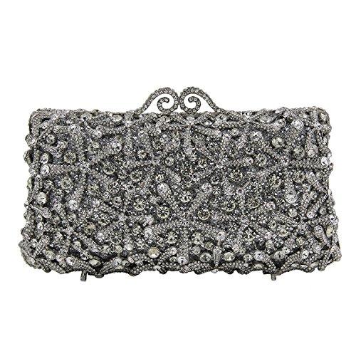 purse Evening Wedding Silber Bag Gold Party Flada Womens Handtasche für Strass A Clutch g5tRwg0q4