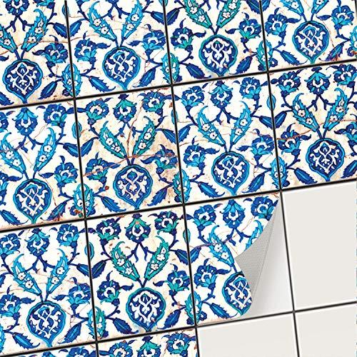 creatisto Mosaik-Fliesen Fliesenaufkleber Fliesenfolie - Klebefolie Aufkleber für Fliesen | Klebefliesen Deko Folien für Fliesen in Küche u. Bad/Badezimmer (15x20 cm | 48 -Teilig)