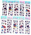 6 x Sticker Sheets - Ideal for Party Bags - Plants Vs Zombies, Angry Birds, Ben 10, Smurfs, Spiderman, Disney Princess, Frozen Stickers Elsa Stickers