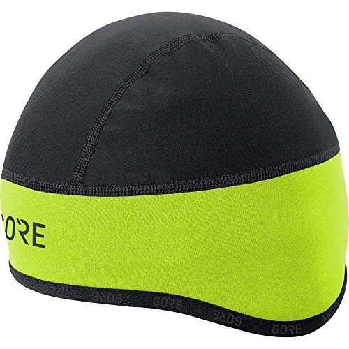 GORE Wear Winddichte Herren Fahrrad-Mütze, C3 WINDSTOPPER Helmet Cap, Größe: 54-58, Farbe: Neon-Gelb/Schwarz, 100398