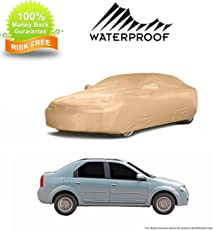 MotRoX High Quality Waterproof Car Body Cover for Tata Indigo CS (American Matty-Beige Color)
