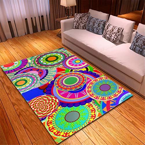 e für Zuhause Wohnzimmer Sofa Boden Dekor Notre Dame de Paris Landschaft Hotel Boden Dekoration 150x100 cm Mehrfarben(Mehrfarben B,120x180CM) ()
