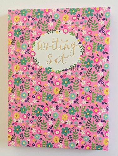 Rachel Ellen Pink Floral Schreiben Papier & Aufkleber Set