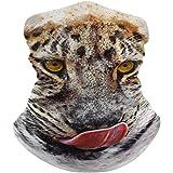 Yolocal - Bandana de leopardo para el cuello, polaina, sol, polvo, resistente al viento, sin costuras, para exteriores