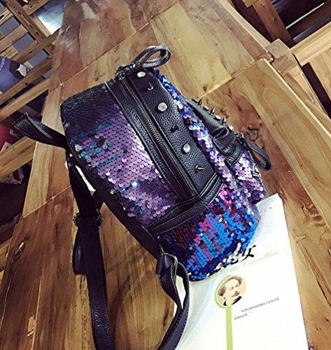 CHENGYANG Damen Art und Weise Einfache Schulter Beutel Rucksack Casual Reise Daypack Blau#1
