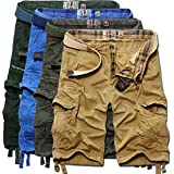 Picture Of Sunshey Cotton Casual Mens Twill Cargo Shorts Pants Summer Fashion Sports Beach Travel Pockets Camouflage Shorts