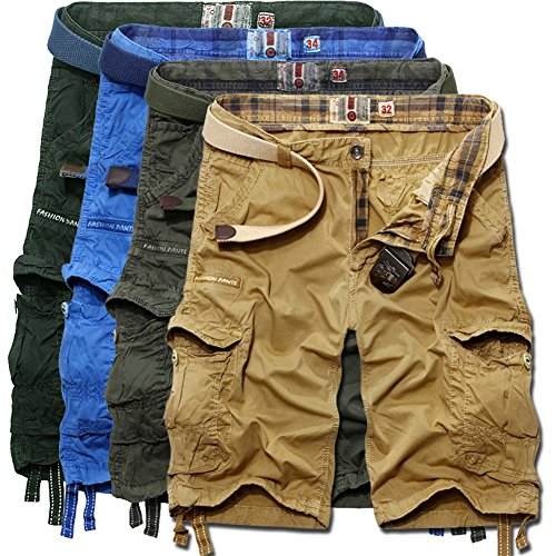 Sunshey Cotton Casual Mens Twill Cargo Shorts Summer Fashion Sports Beach Travel Pockets Camouflage Shorts