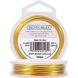 BENECREAT Aanslagbestendige gouddraad, 20 gauge (0,8 mm), koperdraad voor het maken van sieraden, 10 m