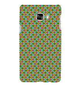 Print Masti Designer Back Case Cover for Samsung Galaxy C5 SM-C5000 (Alternative Antique Square Colourful)