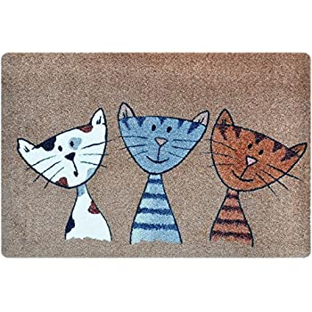 Cat Themed Door u0026 Floor Mat | Inside outside indoor and outdoor areas |  sc 1 st  Amazon UK & Cat Themed Door u0026 Floor Mat | Inside outside indoor and outdoor ... pezcame.com
