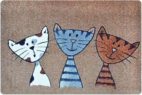 Newsbenessere.com 61fpyWhVU%2BL Deco - Mat - Zerbino gatti, tappetino per ingressi da interno o da esterno, resistente allo sporco grazie al materiale in morbida fibra di poliestere, molto facile da pulire