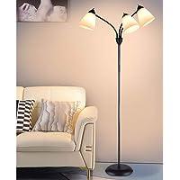 Lampadaire Led,Lampadaire Sur Pied Salon de 3 Tête,Lampadaire, Lumières Chaud, 3 Lumières avec Lampe Réglable en Cou de…
