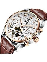 Hombre Relojes Hombre de negocio de aleatorio de reloj mecánico de pulsera Relojes para hombres de