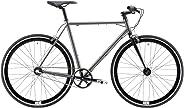 REID Unisex Adult Harrier 3 Speed Nexus 56 cm Hybrid Bike - Grey frame + Black fork, 130 x 40 x 20