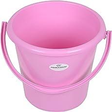 Princeware 1156 Unbreakable Plastic Bucket (16 Liters, Pink)
