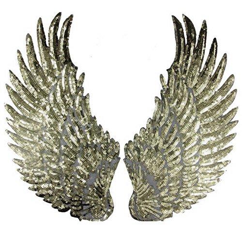 1 par parches lentejuelas alas ángel coser coser