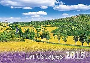 Helma 365 Landscapes Calendrier mensuel mural 2015