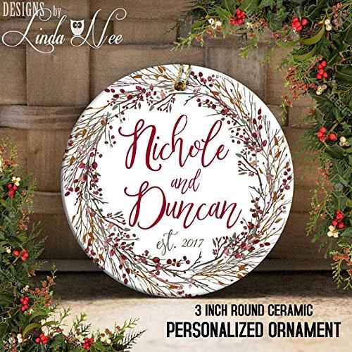 Ornaments Verlobungsring, Engaged, Herr und Frau, Nur Engaged, Custom Verlobungsring Geschenk, Persönlichen Geschenk