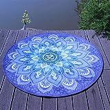 SMSTG Stuoia di Yoga Rotonda Velluto di Cristallo Antiscivolo Materiale Ecologico Stuoia da Meditazione addensata Multiuso Tappeto Stampato Meditazione 125 * 127Cm