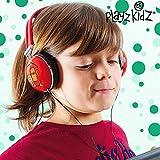 Hasëndad Monstruitos Play Kidz - Auriculares estéreo, color rojo