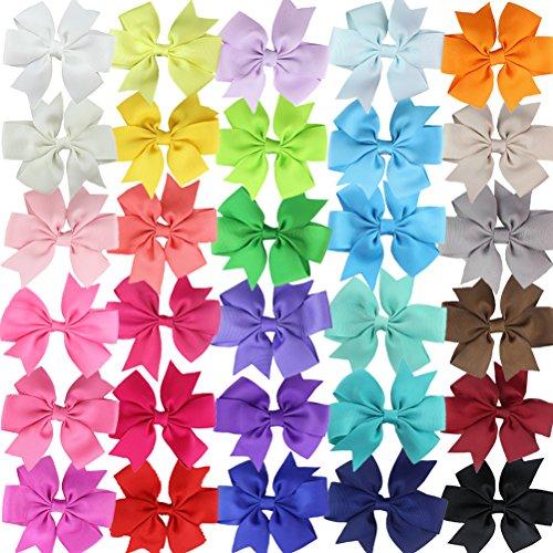 HBF 30 Piezas Multicolor Clips Pelo Niña