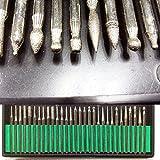 Diamant-Frässtifte Bits, 30Stück Glas Bohrer Körnung 120mittel mit 1/20,3cm (3mm) Schaft für Bohren Gravur Schneiden Schleifstifte Bits DIY Werkzeug