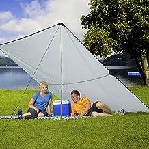 Berger Outdoor Strandmuschel Pop Up 2 komplett schlie/ßbar gr/ün//grau Wind- und Sonnenschutz