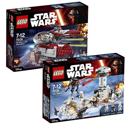 Lego Set Star Wars: 75135 Obi-Wan's Jedi Interceptor + 75138 Hoth Attack
