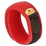 Bramble Premium Mückenschutz, abschreckendes Insekten-Armband mit zwei Nachfüllpackungen. Kann am Arm oder Knöchel getragen werden. Ohne Deet Spray (keine chemische Substanzen)  rot