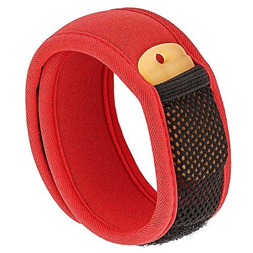 Bramble Premium Mückenschutz, abschreckendes Insekten-Armband mit zwei Nachfüllpackungen. Kann am Arm oder Knöchel getragen werden. Ohne Deet Spray (keine chemische Substanzen) – rot (Arm Erwachsenen Red)
